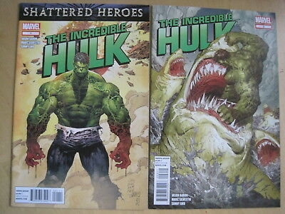 The Incredible HULK issues 1 & 2 by JASON AARON & MARC SILVESTRI.  MARVEL.  2011