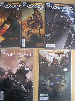 WARHAMMER : 5 BOOM ISSUES:CONDEMNED by FIRE issues 1B,2A,2B & FORGE of WAR 4A,5B
