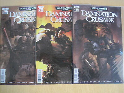 WARHAMMER 40,000 : DAMNATION CRUSADE : issues 1, 2,3 of 6 issue 2006 Boom series