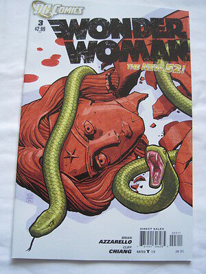 Wonder Woman  #  3.  The New 52. Great Cover ! Dc. 2012