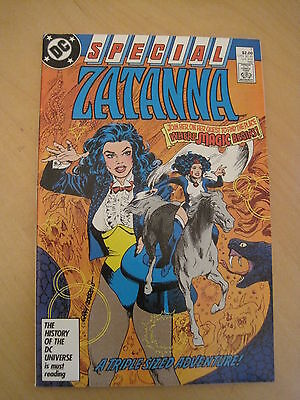 """ZATANNA SPECIAL 1. """"A TRIPLE SIZED ADVENTURE"""".DC,1987 one-shot, all new material"""