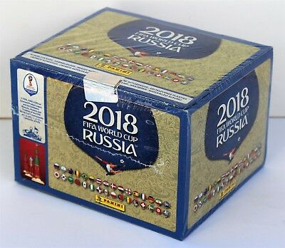 Panini WM 2018 Russland - Display mit 100 Tüten NEU - Deutsche Version
