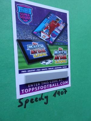 Topps Champions League 18 2019 Code limited Edition Salah 19 Match Attax 2018