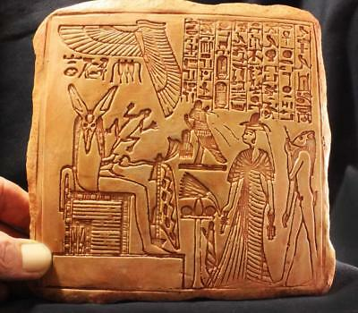 SOUL JUDGEMENT - Egyptian Relief - Ancient Egyptian Resurrection Ritual