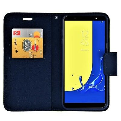 BRAND NEW Samsung Galaxy Navy Wallet Flip Case Leather PU Magnetic Book Cover