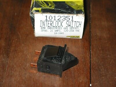 Heil Quaker Interlock Switch OEM 1012351 EMB 601 SERIES 21A 125-250Vac Free ship