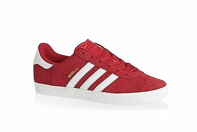New Adidas Gazelle S32246 Scarlet White Red Sneaker YOUTH Big Kids
