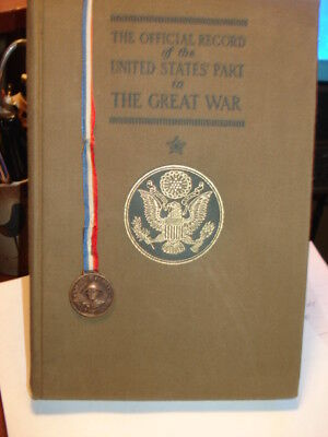 Official Record US Part in Great War & Medal of Honor Book marker issued Sec War