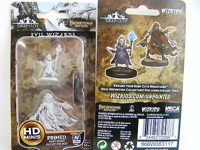 WZK72586 - Pathfinder Battles Deep Cuts - Unpainted Miniatures Evil Wizards