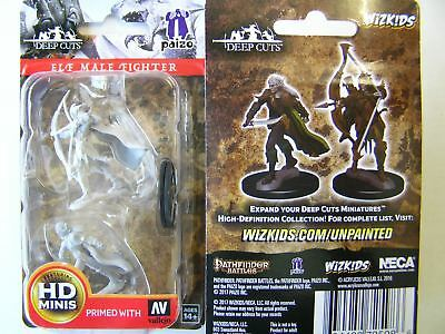 WZK72598 Pathfinder Battles Deep Cuts Unpainted Miniatures Elf Male Fighter  D&D