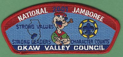 Okaw Valley Council 116 Illinois 2001 National Jamboree Boy Scout Csp Patch S14