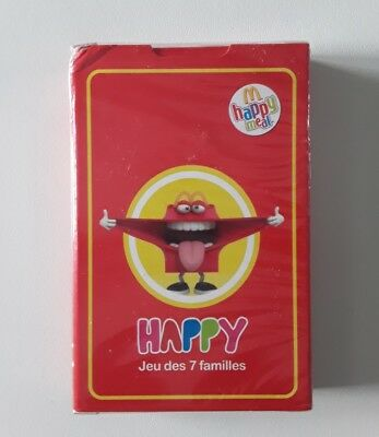 "Jeu de cartes 7 familles 2018 Mac Do Happy Meal ""Happy"" Neuf sous blister"