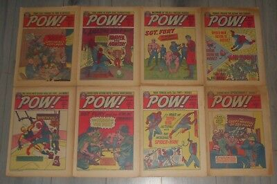 Lot Of 8 Pow Comics # 33 To 41 , Spider-Man, The Cloak, Sgt Fury, 1967 .