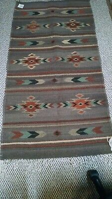 Mclarty - Zapotec Indian Rug Stunning Colors Beautiful Designs Superb New W Tags
