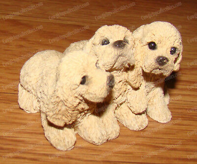 Cocker Spaniel Pups (Stone Critters, Dog's by United Design, SCB-190) Blond