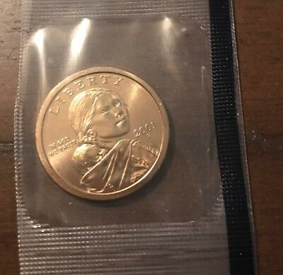 2001 P Sacagawea Native American Dollar • BU • #1020