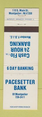 Matchbook Cover - Pacesetter Bank Montpelier IN WEAR