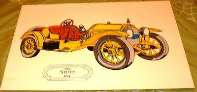 29,5 X 21 Cm Usa Stutz Car Model Picture From Sweden For Framing