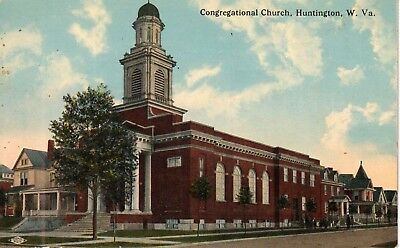 Early 1900's The Congregational Church in Huntington, WV West Virginia PC