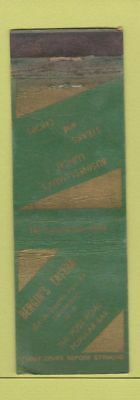 Matchbook Cover - Bergin's Tavern Larchmont NY WORN