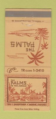 Matchbook Cover - The Palms in the Jungle Anaheim CA 30 Strike