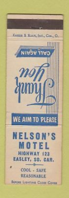 Matchbook Cover - Nelson's Motel Easley SC