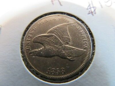 Exceptionally Bright AU 1858 Flying Eagle Cent