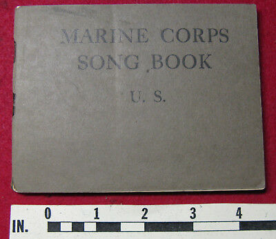 USMC Song Book, 1919, WWI Songs of the Marines