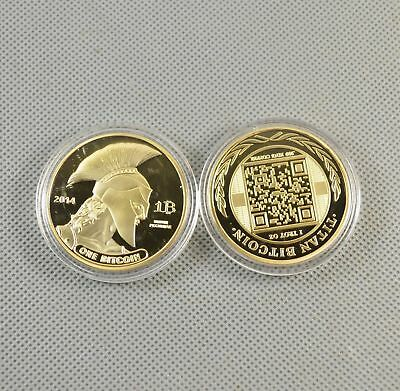 1pcs New Commemorative Bitcoin Collectible Golden Iron Miner Coin Gold Plated N3