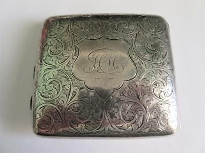 ANTIQUE EDWARDIAN SOLID SILVER CIGARETTE CASE - 112g - Joseph Gloster Birm 1906!