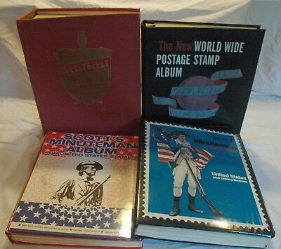 U.S. 'MINT' and WORLD POSTAGE STAMP COLLECTION in 4 ALBUMS + UNSORTED PACKETS