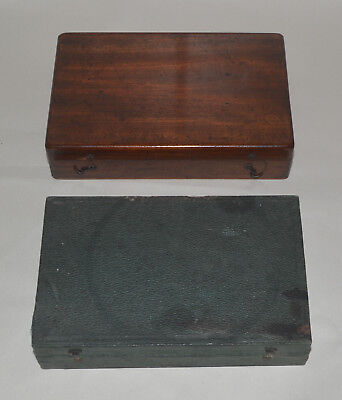 2 x wooden microscope slide boxes / cases.
