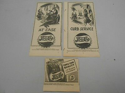 Pepsi Advertisements- Lot of 3- 1945- The Oregonian Newspaper- All Different!
