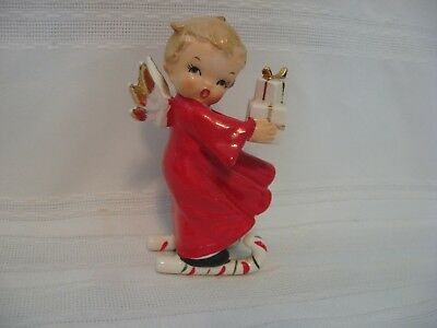 Vintage Fine A Quality Japan Angel On Skis With Packages