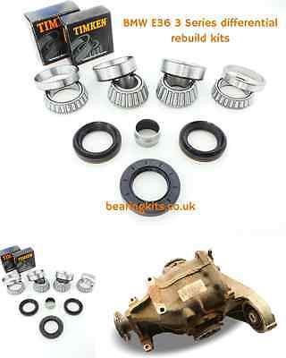 BMW 316i 3 Series E36 168 differential rebuild kit inc diff bearings & oil seals