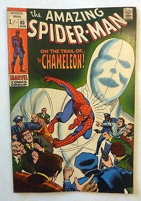 Amazing Spider-Man 80 Silver Age 1970 NF/FN Condition Chameleon