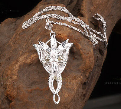 24K WHITE GOLD PLATED LORD OF THE RINGS Arwen Evenstar SOLID ...