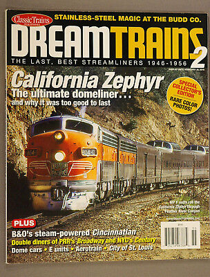 DREAM TRAINS #2, Best Streamliners, Classic Trains Collectors Edition, 2010; LN