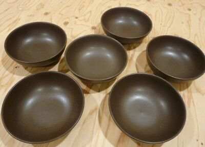 """Denby Mayflower Stoneware 6 Soup, Cereal Bowls 6 5/8"""""""