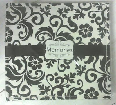 """NEW Memories 50 Pages 200 Pockets for 4"""" x 6"""" Photo Album Black / White"""