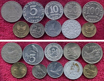 10 Coins from Indonesia
