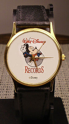 obscure Disney quartz watch promoting Walt Disney Records / Mickey Mouse on dial
