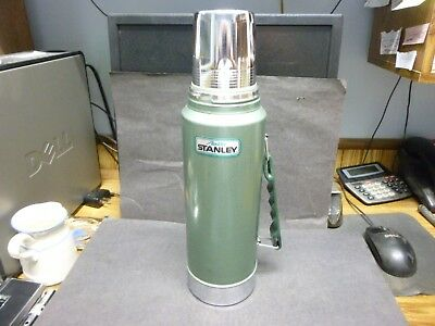 """Large Quart Size, Vintage """"Aladdin Stanley"""" Metal Thermos, Made in U.S.A.."""