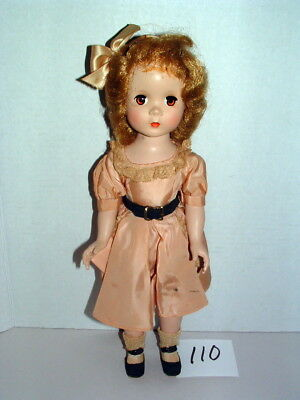 """1950s ALEXANDER 15"""" MAGGIE FACE DOLL w RED HAIR & OUTFIT LOT#110"""