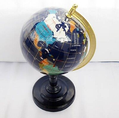 New 220mm Gemstone Desktop World Globe & Earth Map