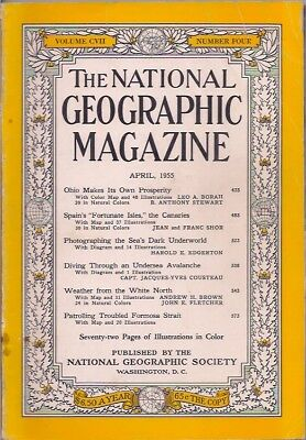 """national geographic-APR 1955-SPAIN'S """"FORTUNATE ISLES,""""THE CANARIES."""