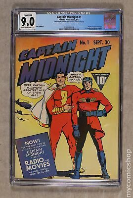 Captain Midnight #1 1942 CGC 9.0 CONSERVED 0710320012