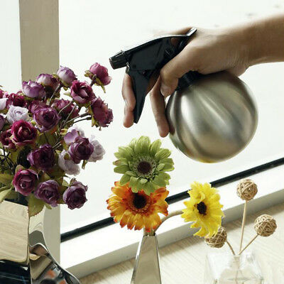 Gardening Tool Stainless Steel Watering Can Plant Spray Bottle Silver 500ml