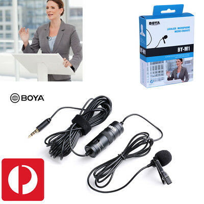 BOYA BY-M1 3.5mm Lavalier Condenser MIC Microphone for Smartphone DSLR Cameras