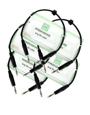 5x Professionelles Pronomic Stage INSTS-0,5 Klinkenkabel 0,5 m Set